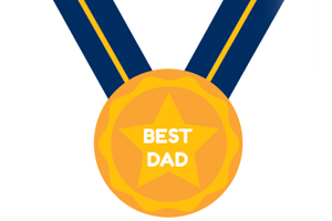 Best Dad medal