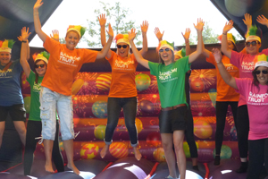 Dorking Colour5k showered with colours of the Rainbow