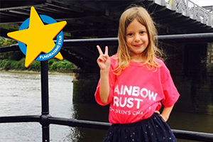 Five-year-old Gwen takes on a Half Marathon for families