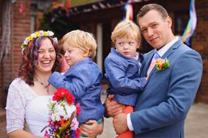 Joe and Anna's Rainbow Wedding