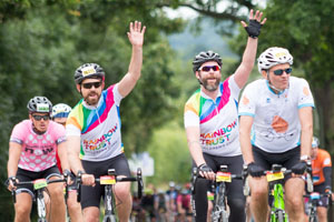 RideLondon team ride to victory raising £42,000