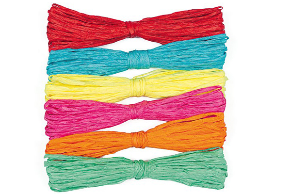 Coloured raffia