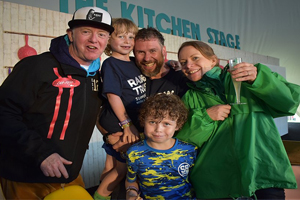 Family fronting CarFest receives VIP welcome