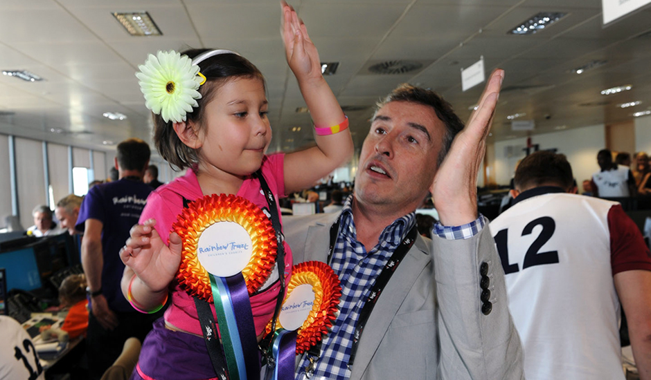 Iris with Steve Coogan at BGC Charity Day