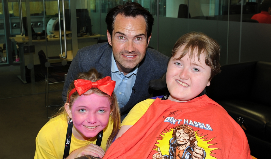 Jimmy Carr, Ben and his sister, Jenny at BGC Charity Day