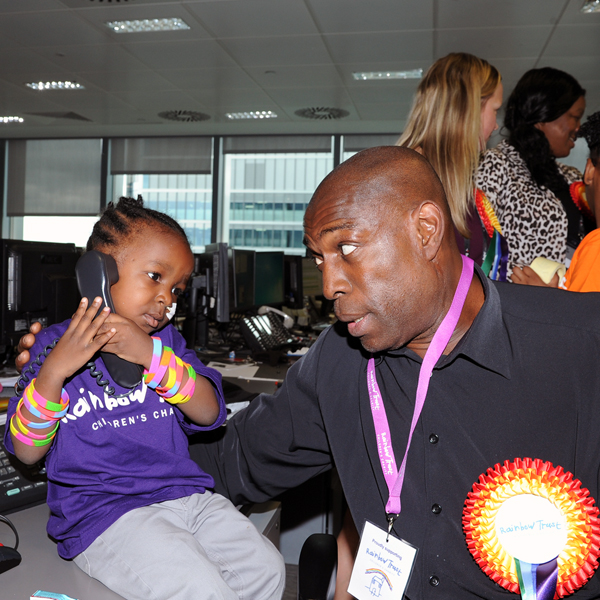 Frank Bruno at BGC charity day