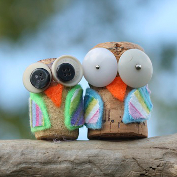 Make a cute cork owl
