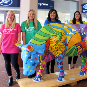GA Telesis sponsored our life-sized cow for the Surrey Hills Cow Parade