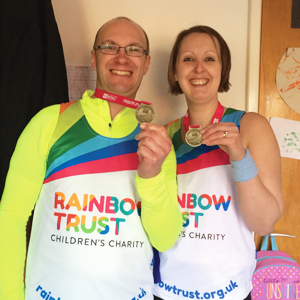 Rainbow Trust dad, Matt, raised over £500 completing the Bath Half