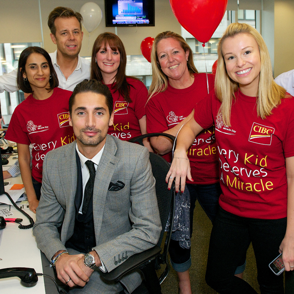 Hugo Taylor supports us at CIBC Miracle Day