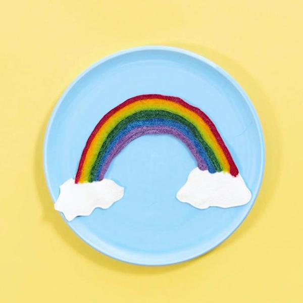 Rainbow Pancake Art