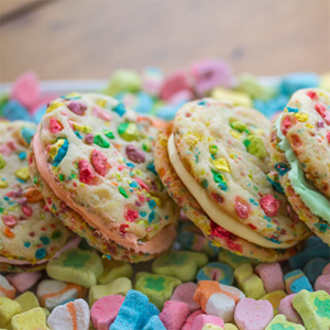 Rainbow Cookie Sandwich
