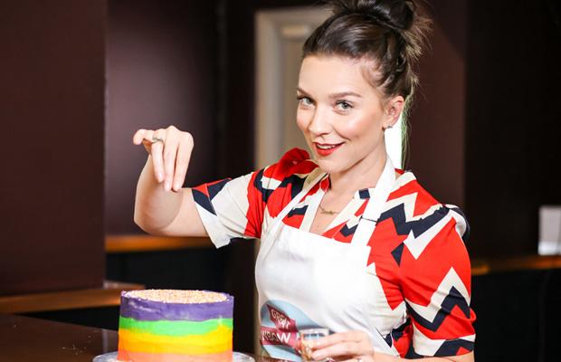Candice Brown's rainbow layer cake