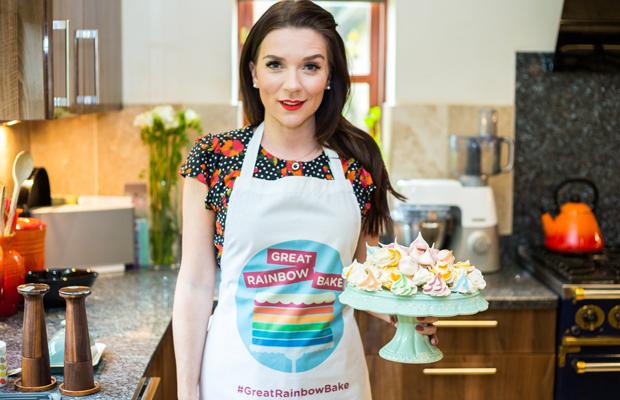 Candice Brown's rainbow meringues