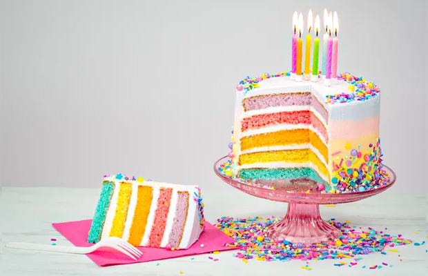 Classic rainbow cake
