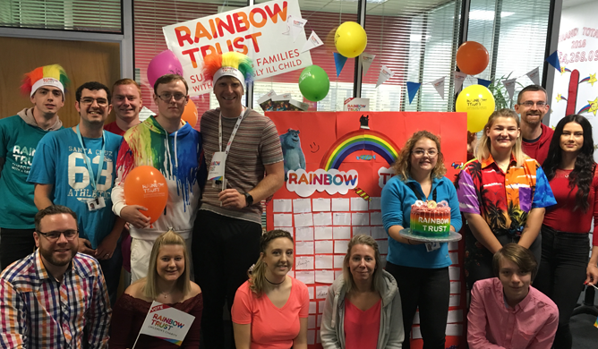 Auto Windscreens get colourful to raise over £2,700 for Rainbow Trust