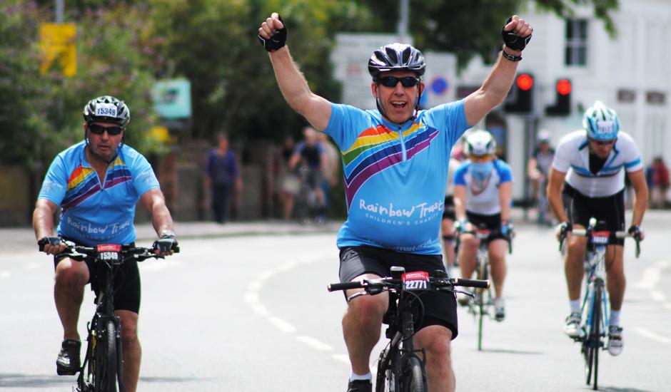 Bernard takes on his third RideLondon for Rainbow Trust