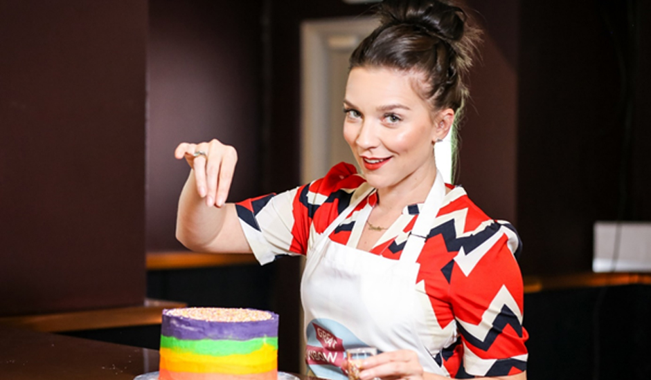 Candice Brown calls on families to make a 'Great Rainbow Bake' to help seriously ill children