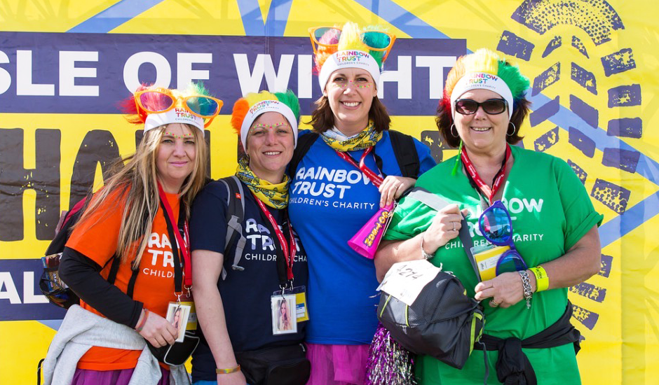 Rainbow Trust Family Support Worker takes on Isle of Wight Challenge
