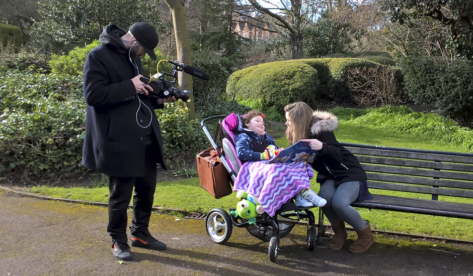 Behind the scenes of  'A day with Amelia'