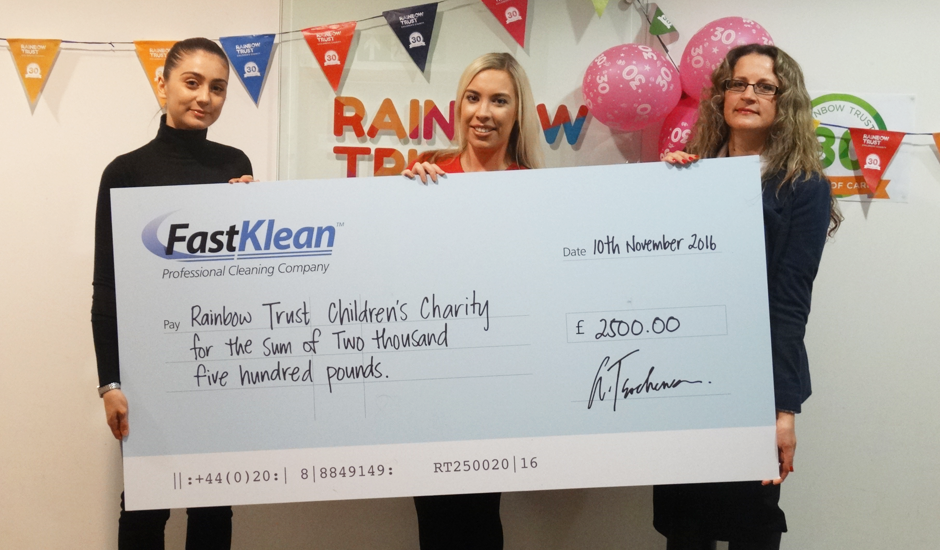 Firm donates £2,500 to help families with terminally ill children