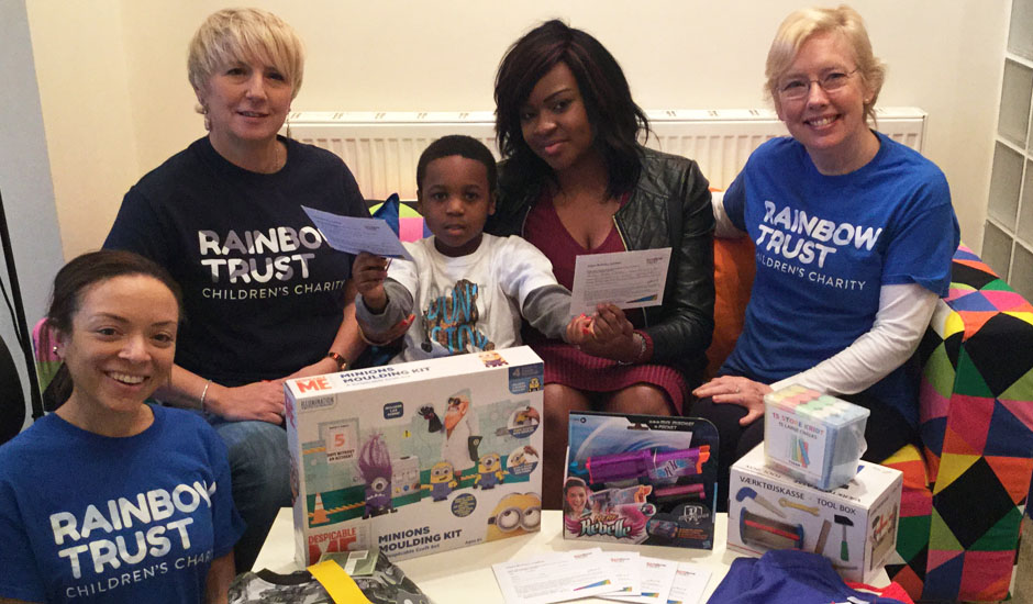 Five year old donates birthday presents to Rainbow Trust