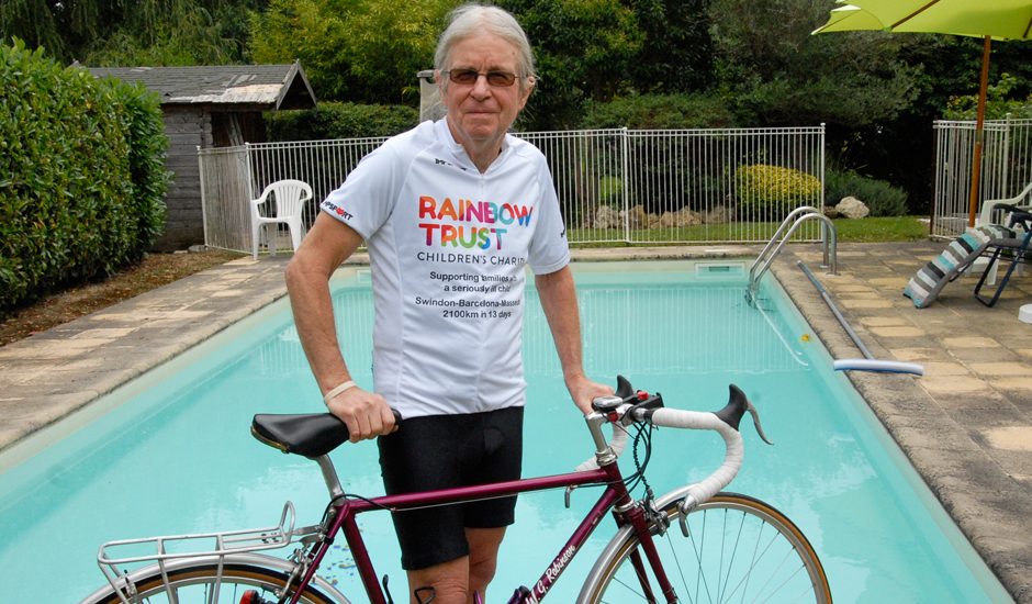 70 year-old set to cycle from Swindon to Barcelona