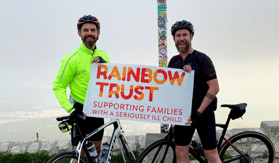 Dad and friend complete Mont Ventoux challenge for Rainbow Trust