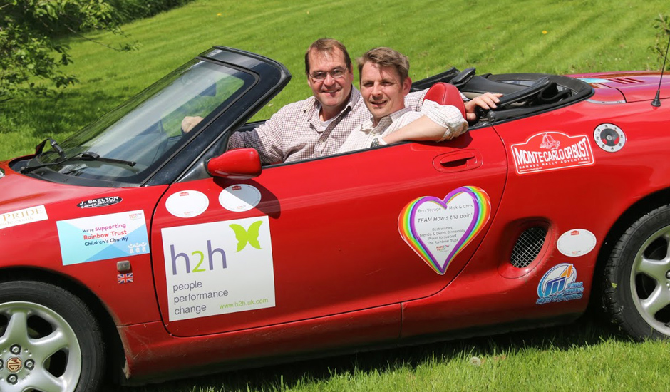 Duo rally together in aid of Rainbow Trust Children's Charity
