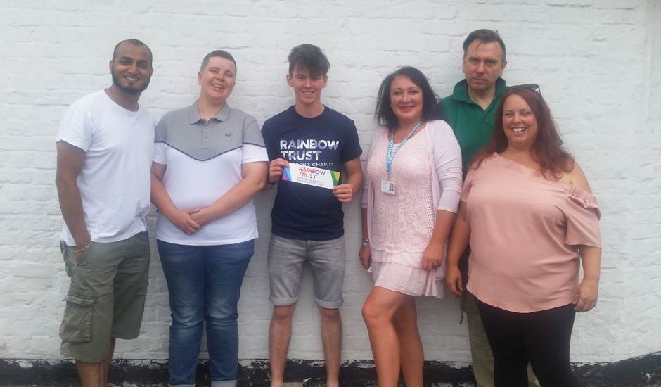 Racing car driver raises £700 for Rainbow Trust