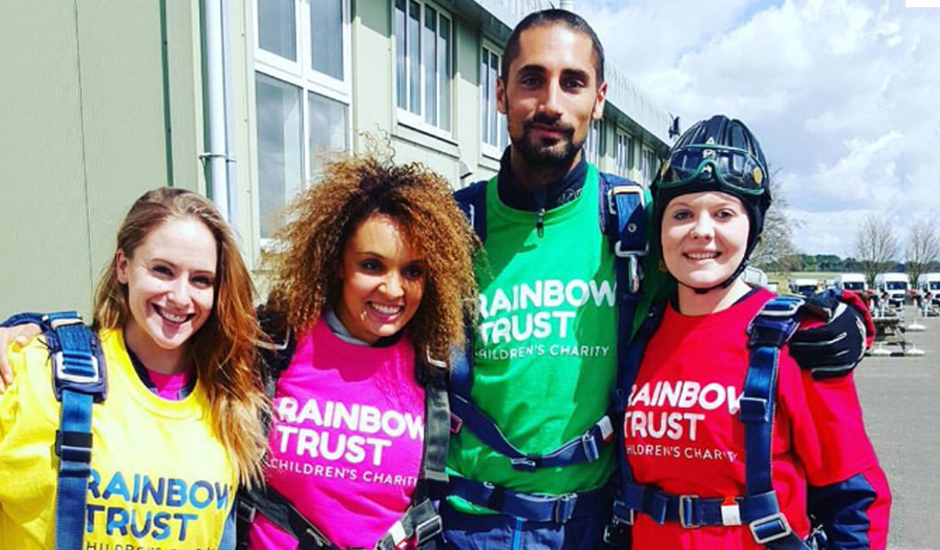 Hugo and Pandora take to the skies for Rainbow Trust