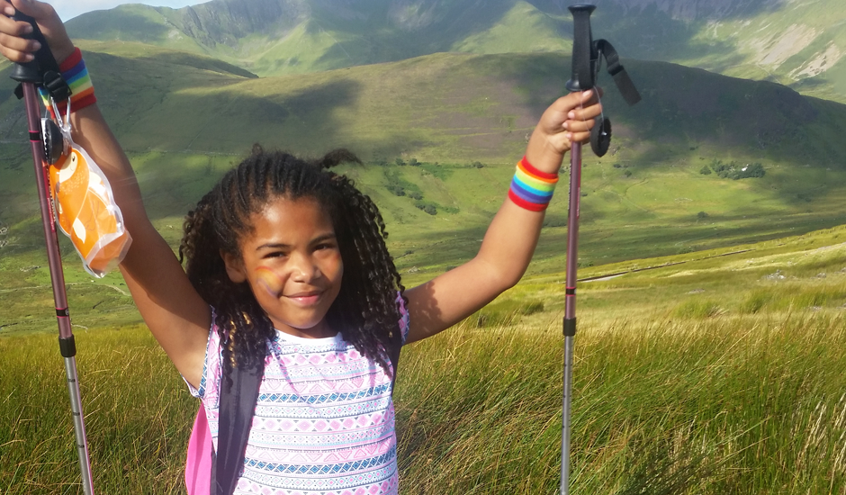 Eight-year-old Swindon girl climbs Snowdon for Rainbow Trust