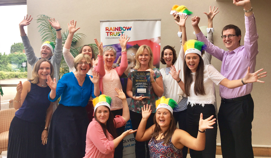 Rainbow Trust Children's Charity voted Surrey's best Not-for-profit Organisation