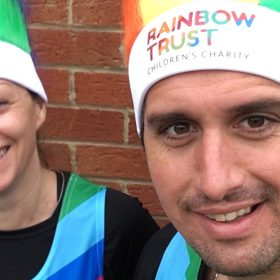 Rainbow runners raise over £5,000 for families
