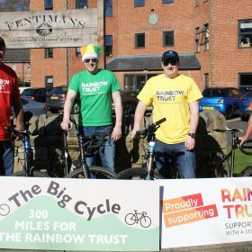 Hanover Dairies and Fentimans 300 mile bike ride to support families with a seriously ill child