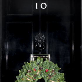 Children supported by Rainbow Trust join PM at Number 10 to turn on Christmas lights