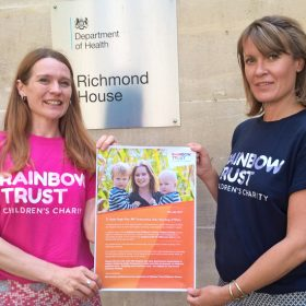 Rainbow Trust open letter delivered to new health minister