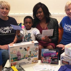 Five-year-old donates birthday presents to Rainbow Trust