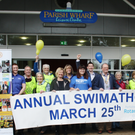 Portishead Rotary Club names Rainbow Trust as its 2017 Swimathon charity