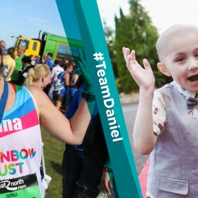 Five year old in remission from cancer is Rainbow Trust's 'face' of the Great North Run
