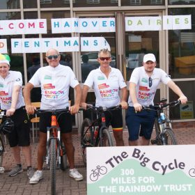 Rainbow Trust receives over £43,000 from The Big Cycle