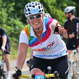Supporters get on their bikes to raise money for Rainbow trust