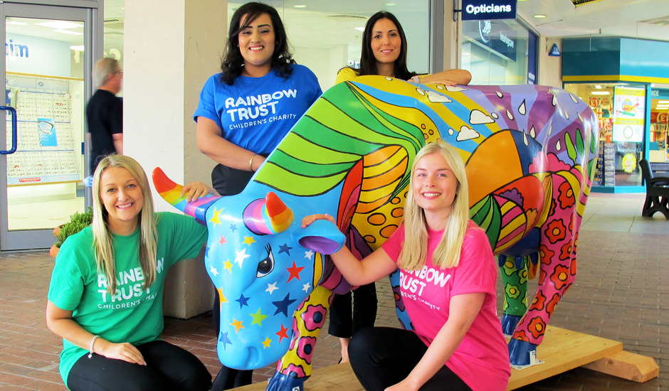 Rainbow Trust's cow mooves to Leatherhead for CowParade Surrey
