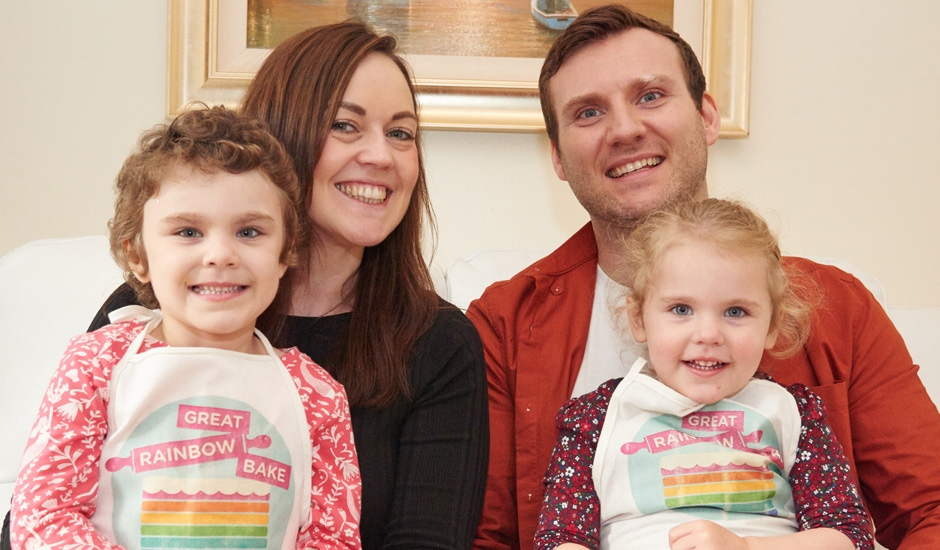 South Shields girl Phoebe fronts Great Rainbow Bake Campaign