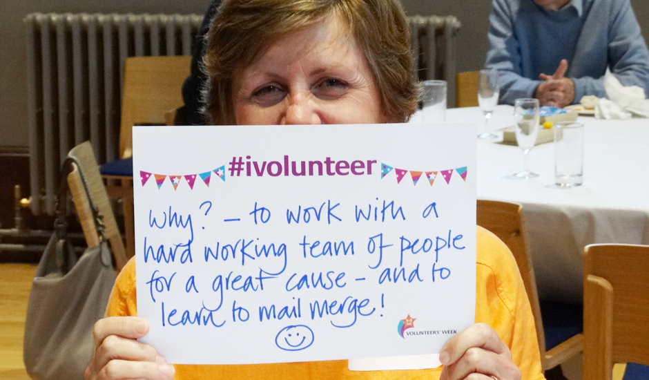 Pam shares her volunteering experience