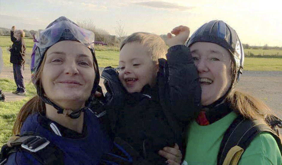 Grandma gives back and goes sky high above fundraising target